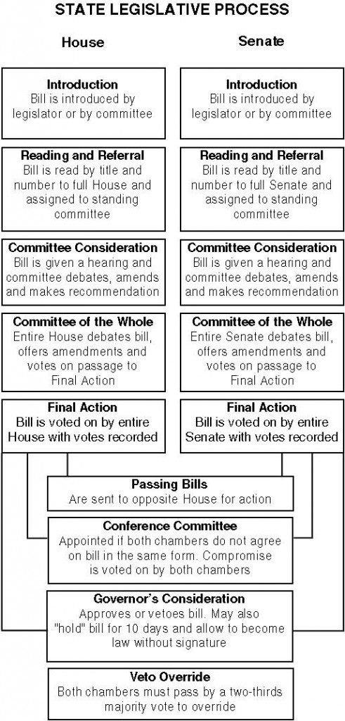The Life of a Bill:  The Legislative Process