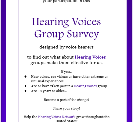 OurVoicesRaised survey flyer